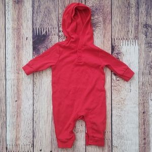 Red Hooded one piece
